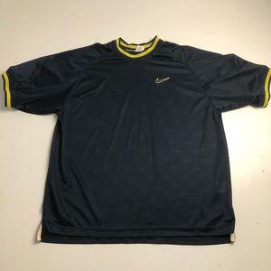 Vintage Nike Mesh Jersey Blue Yellow Men's